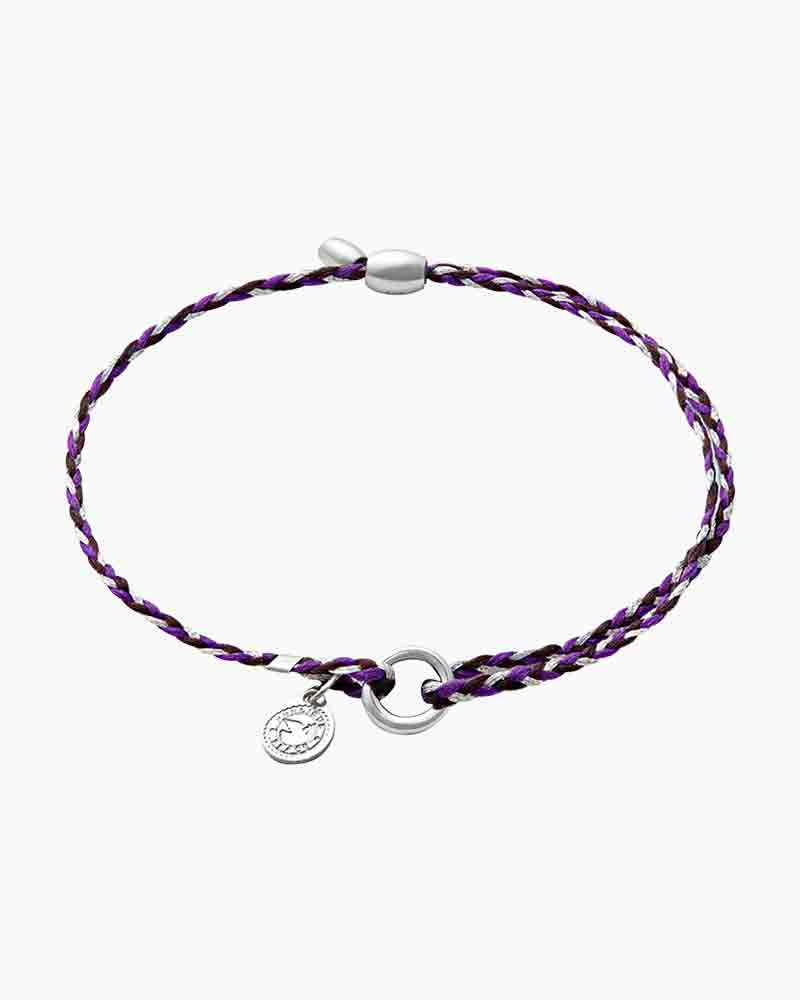 Alex and Ani Purple Precious Threads Bracelet