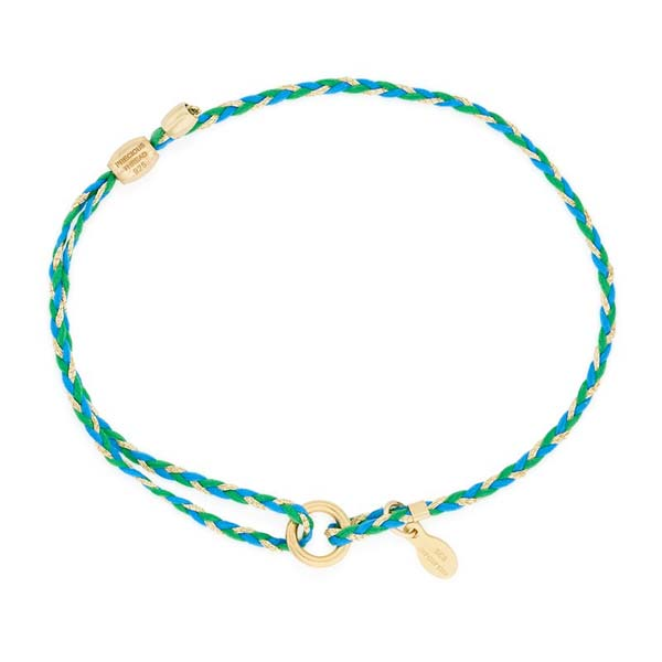 Alex and Ani Teal Precious Threads Bracelet