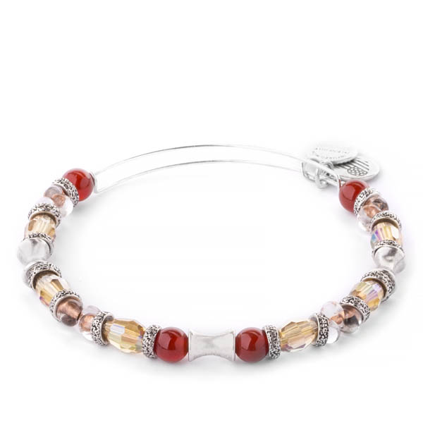 Alex and Ani Earth Red United Expandable Wire Bangle