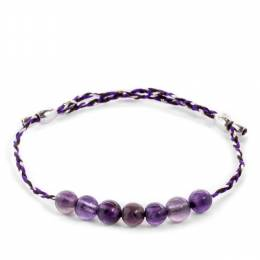 Alex and Ani Amethyst Gemstone Inky Purple Precious Threads Bracelet