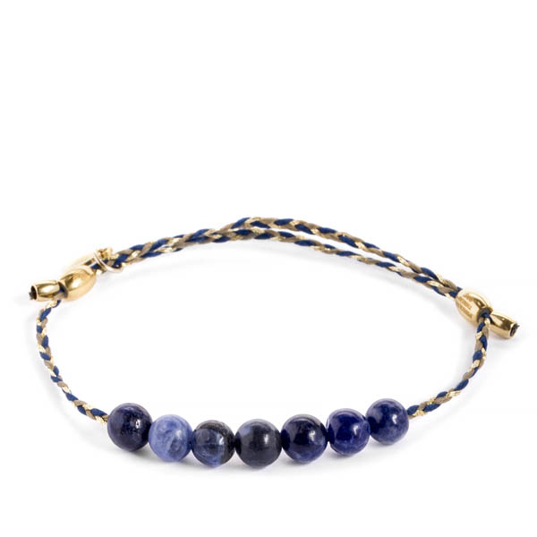 Alex and Ani Sodalite Gemstone Soul Blue Braid Precious Threads Bracelet