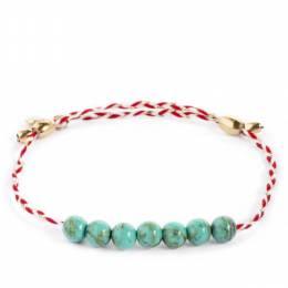 Alex and Ani Turquoise Gemstone Royal Cardinal Braid Precious Threads Bracelet
