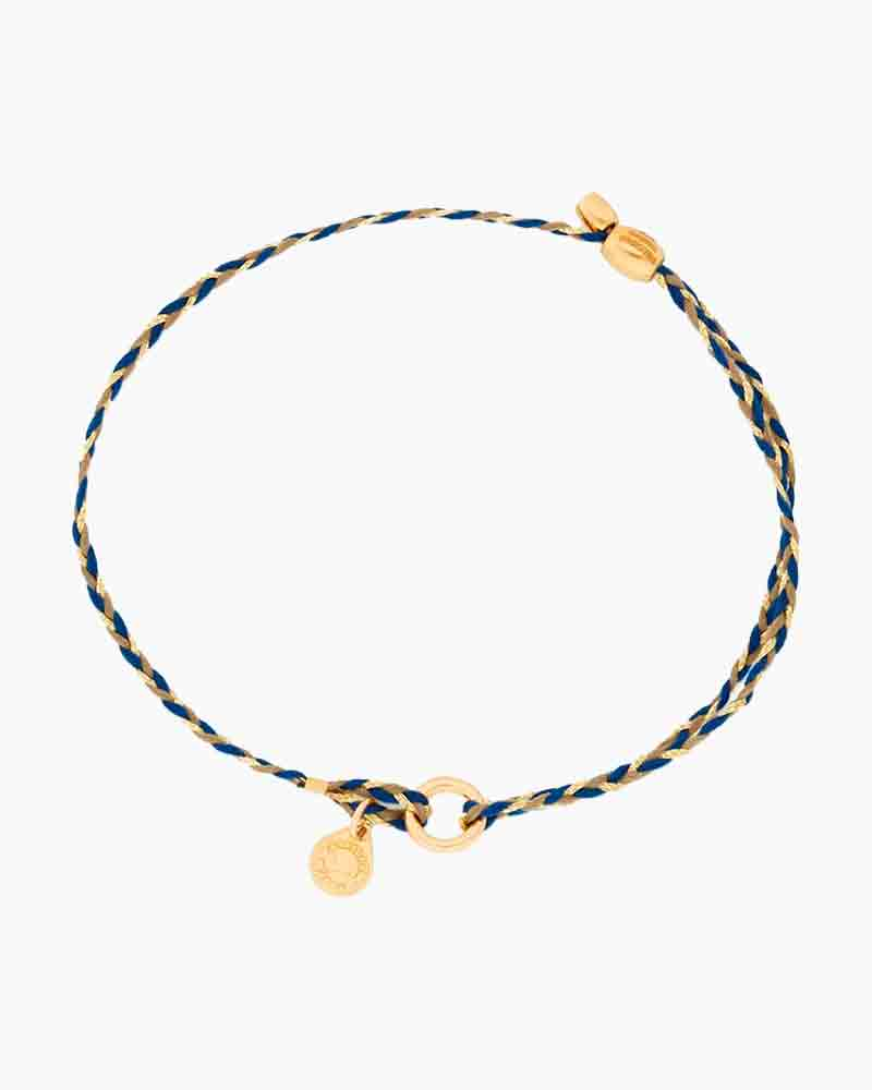 Alex and Ani Soul Blue Braid Precious Threads Bracelet