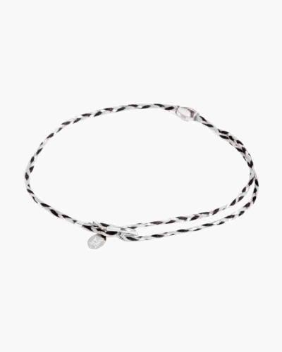 Silver Crescent Braid Precious Threads Bracelet