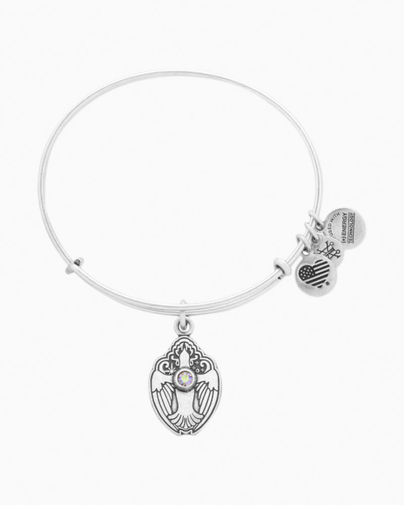 Alex and Ani Crystal Dove Expandable Wire Bangle