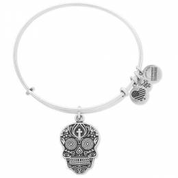 Alex and Ani Calavera Expandable Wire Bangle