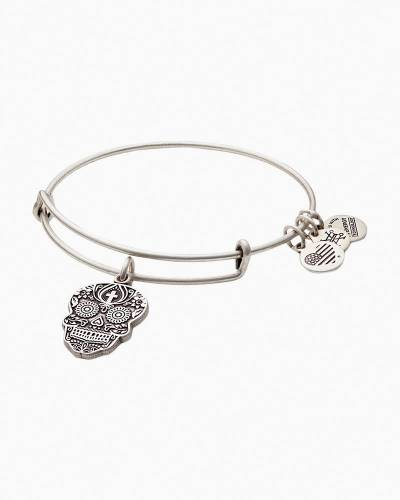 Calavera Expandable Wire Bangle in Rafaelian Silver