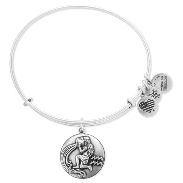 Alex and Ani Aquarius Expandable Wire Bangle