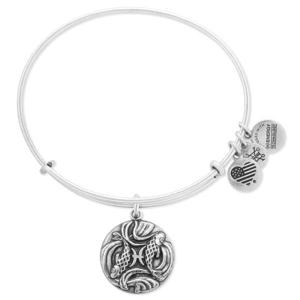 Alex and Ani Pisces Expandable Wire Bangle
