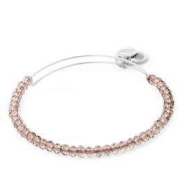 Alex and Ani Crescent Moon Brilliance Bead Expandable Wire Bangle