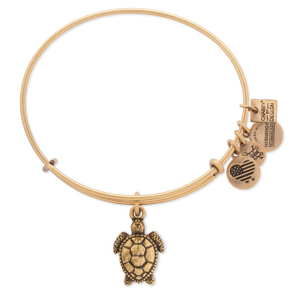 Alex and Ani Sea Turtle Expandable Wire Bangle