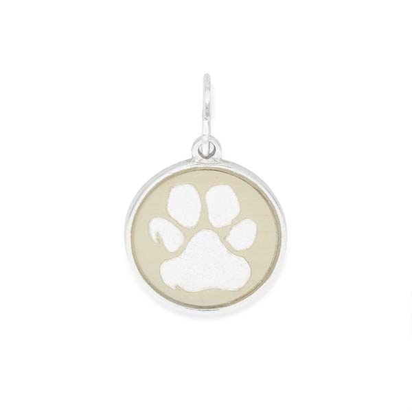 Alex and Ani Paw Print Two Tone Charm
