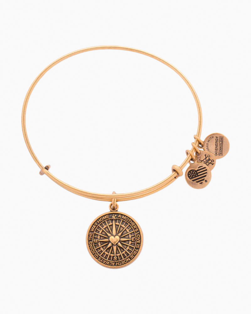 Alex and Ani True Direction Expandable Wire Bangles in Rafaelian Gold