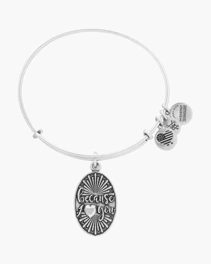 Alex and Ani Because I Love You Charm Bangle