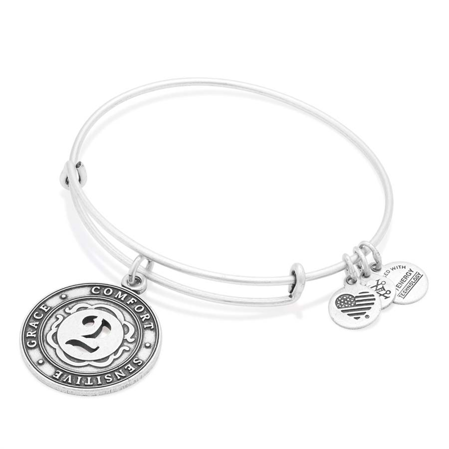 Alex and Ani Number Two Expandable Wire Bangle