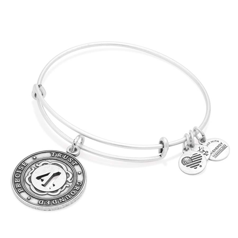 Alex and Ani Number Four Expandable Wire Bangle