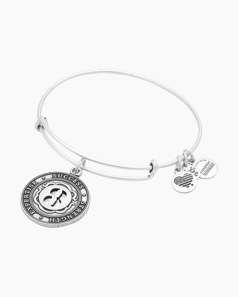 Alex and Ani Number Eight Expandable Wire Bangle