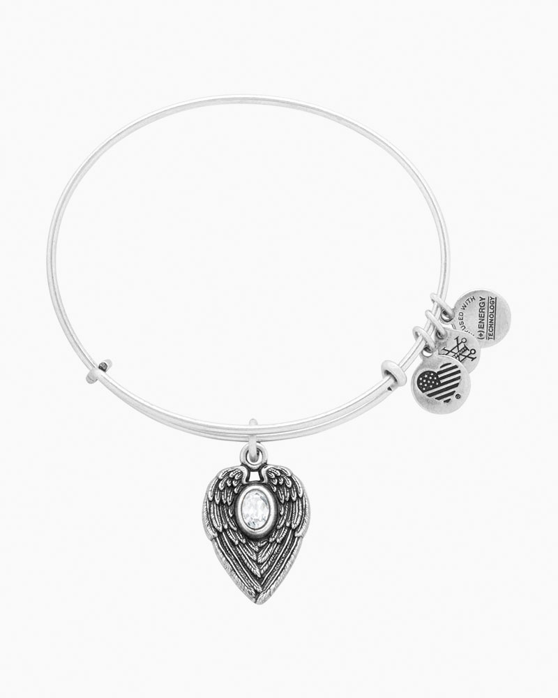 ALEX AND ANI Guardian Angel Expandable Wire Bangle