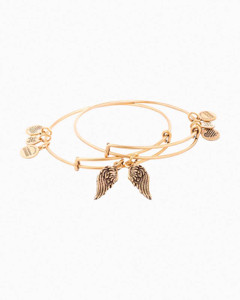 Alex and Ani Wings Expandable Wire Bangles Set of 2