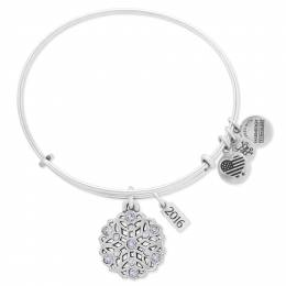 Alex and Ani Limited Edition 2016 Snowflake Expandable Charm Bangle