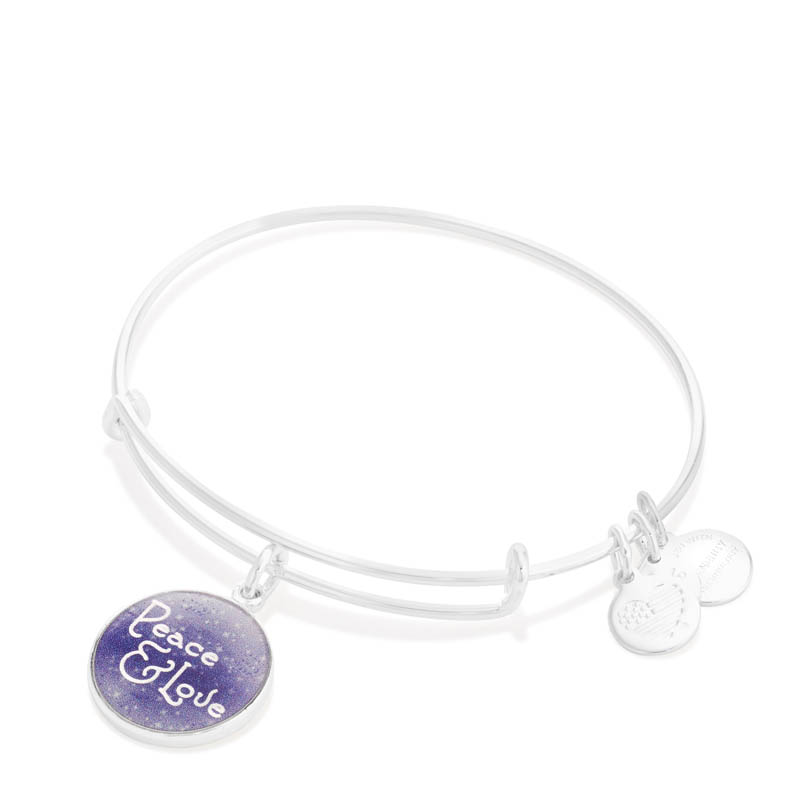 Alex and Ani Peace and Love Expandable Wire Bangle