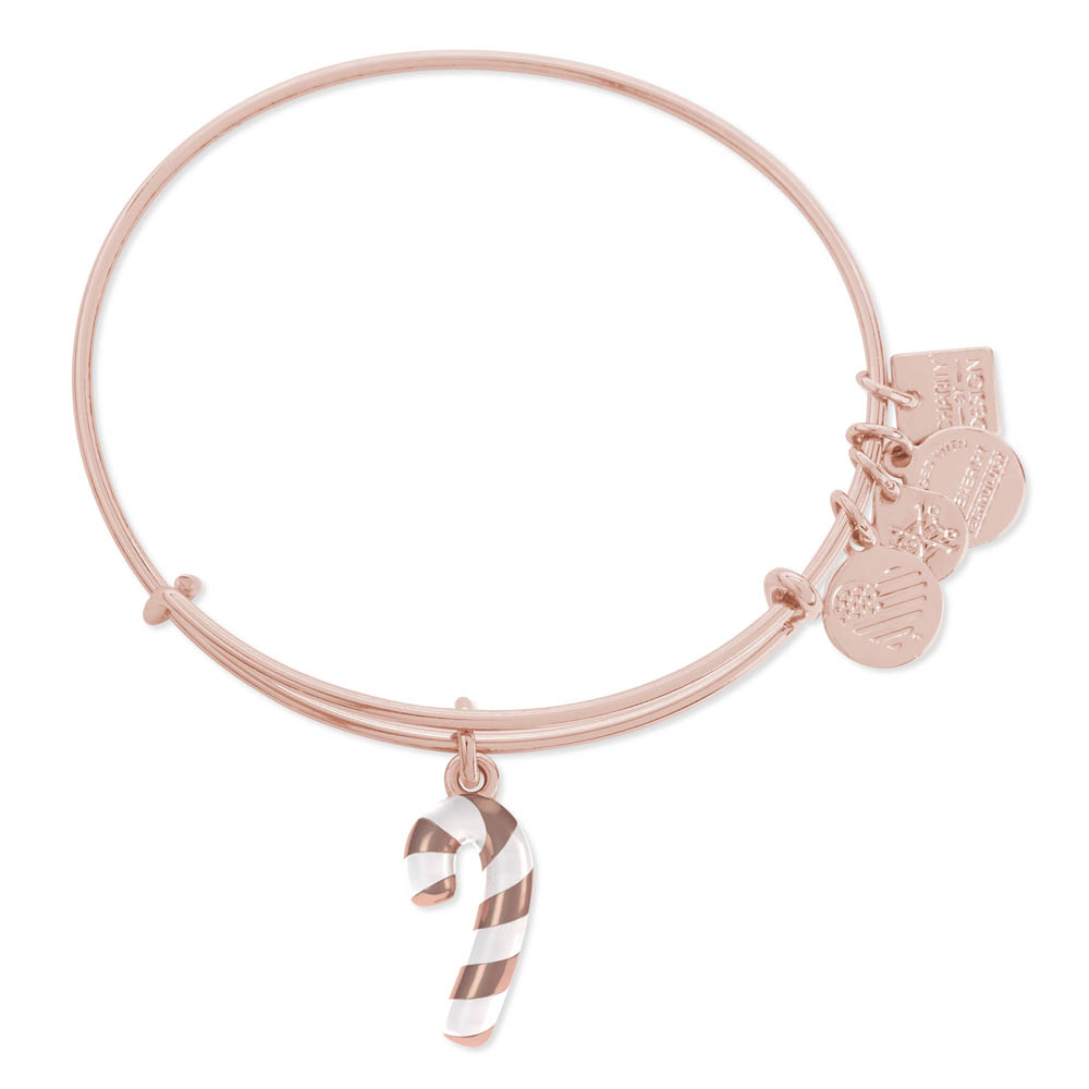 Alex and Ani Candy Cane Expandable Wire Bangle