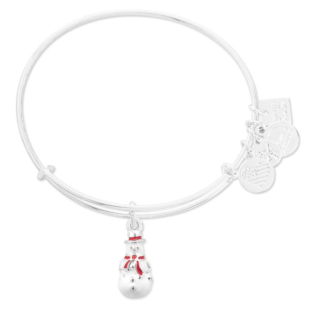 ALEX AND ANI Snowman Charm Bangle | Marine Toys for Tots Foundation