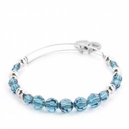 Alex and Ani Sky Swarovski Bead Expandable Wire Bangle