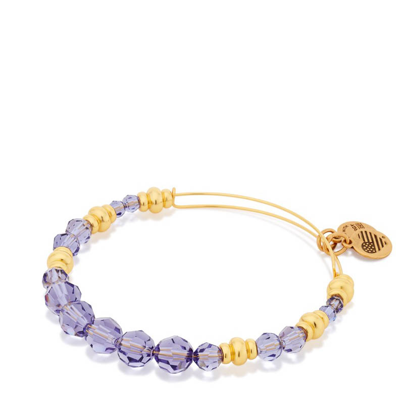 Alex and Ani Royal Swarovski Bead Expandable Wire Bangle