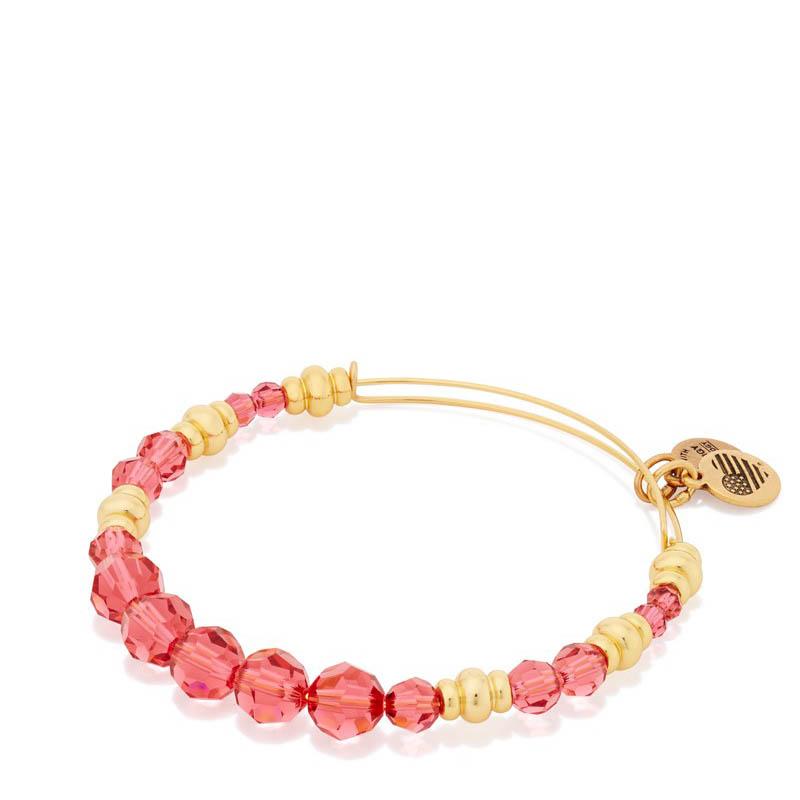 Alex and Ani Rouge Swarovski Bead Expandable Wire Bangle