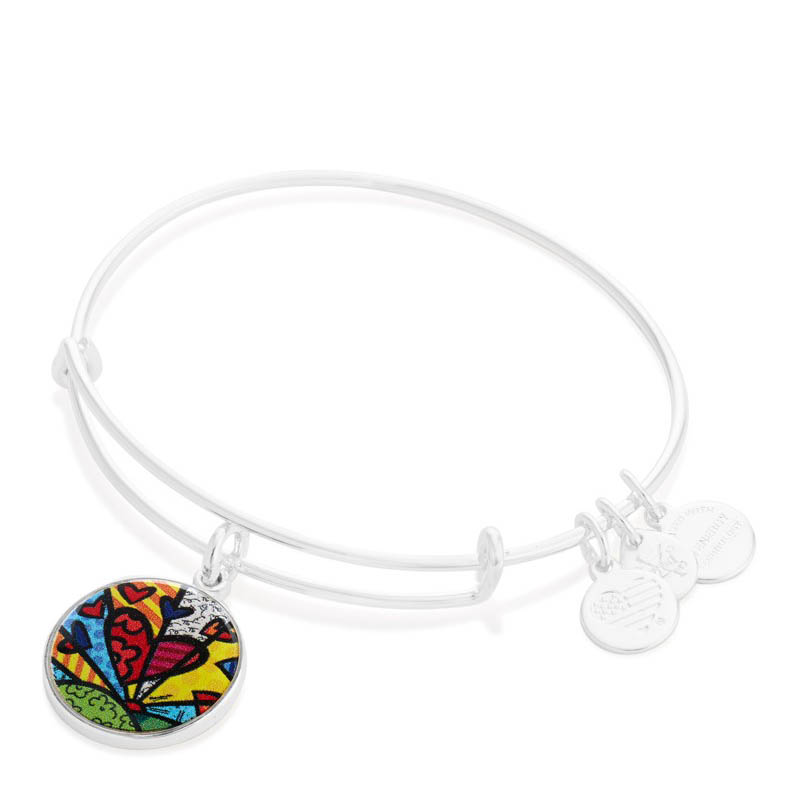 Alex and Ani A New Day Art Infusion Charm Bangle in Shiny Silver