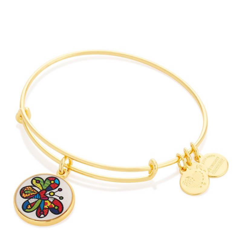 Alex and Ani Butterfly Art Infusion Charm Bangle