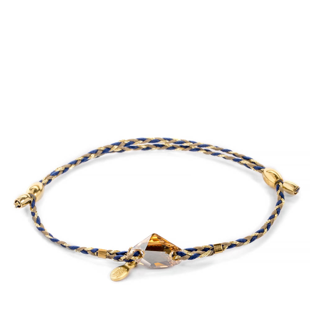 Alex and Ani Soul Blue Braid Golden Shadow Galactic Swarovski Crystal Precious Threads Bracelet