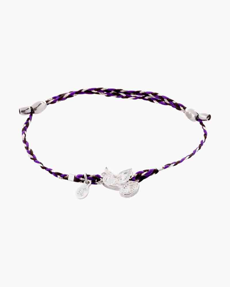 Alex and Ani Dove Inky Purple Precious Threads Bracelet