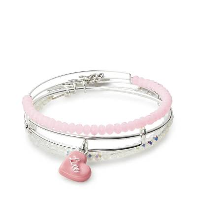 Sweet Set of Three Expandable Wire Bangle Set