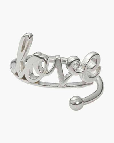 Love Ring Wrap in Silver