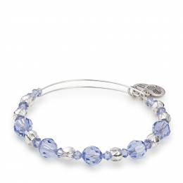 Alex and Ani Rain Swarovski Expandable Wire Bangle