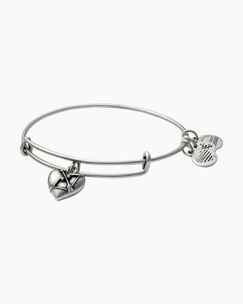 Alex and Ani Cupid's Heart Expandable Wire Bangle