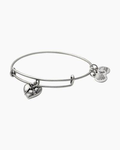 Cupid's Heart Expandable Wire Bangle in Rafaelian Silver