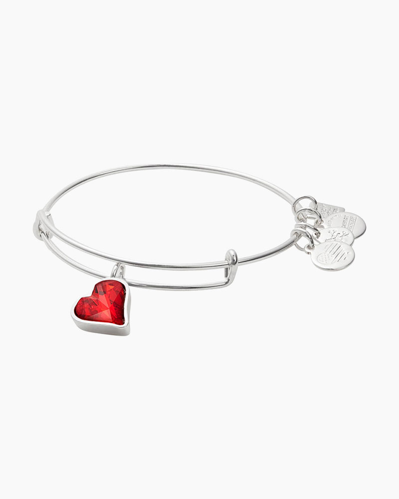 Alex and Ani Heart of Strength Expandable Wire Bangle