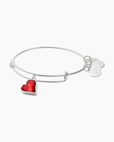Heart of Strength Charm Bangle | Global Fund to fight AIDS with RED