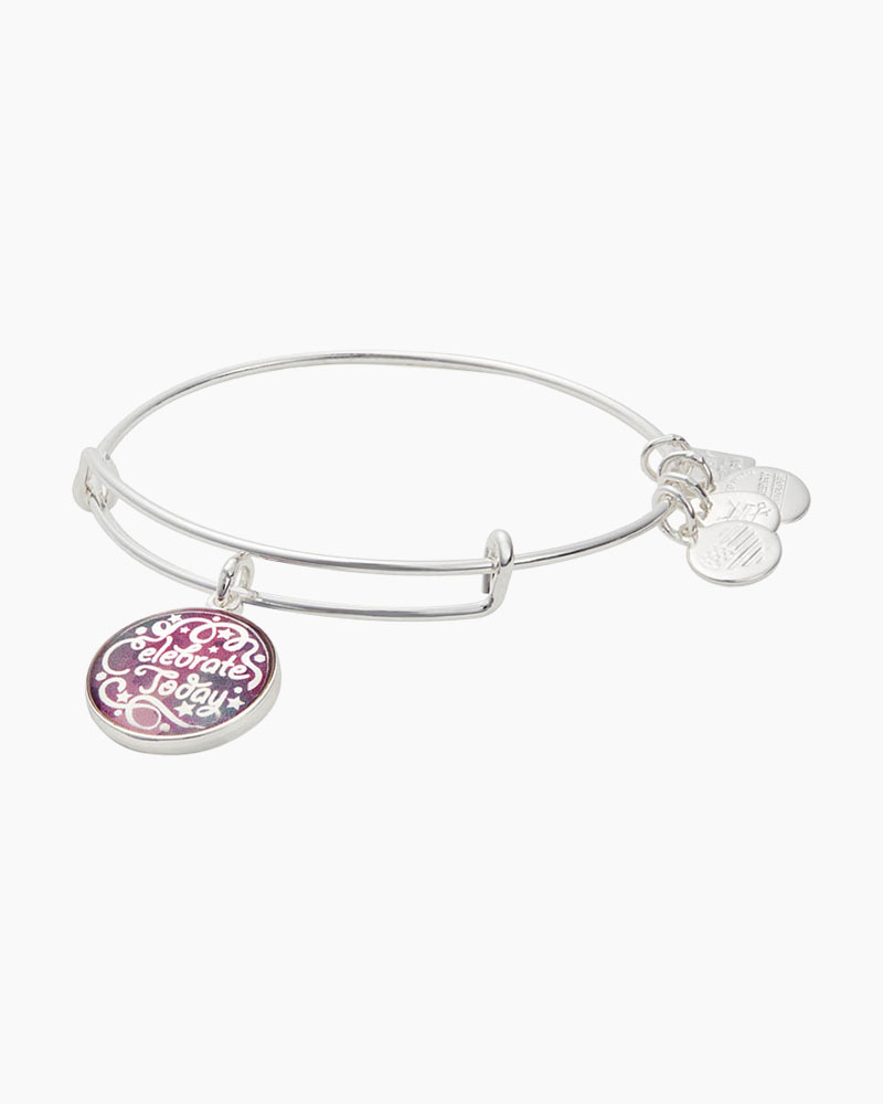 Alex and Ani Celebrate Today Expandable Wire Bangle in Shiny Silver