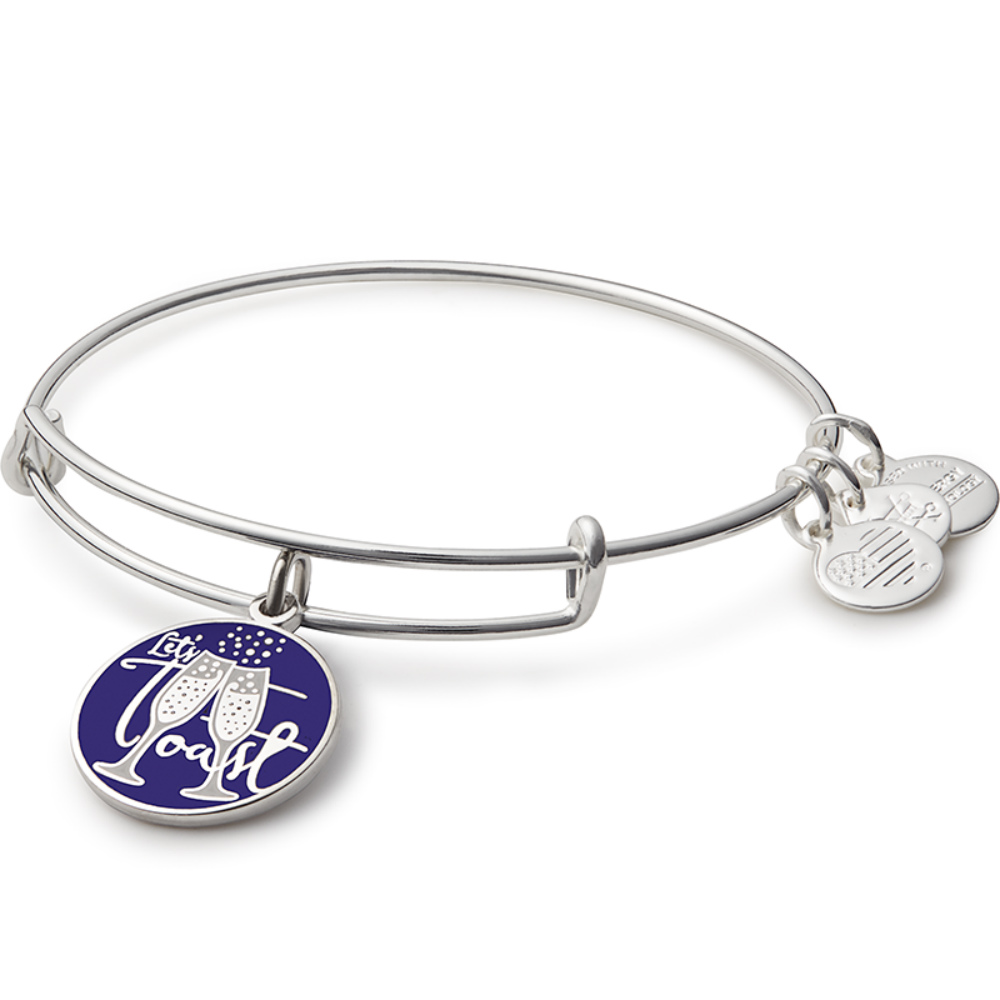 Alex and Ani Let's Toast Charm Bangle