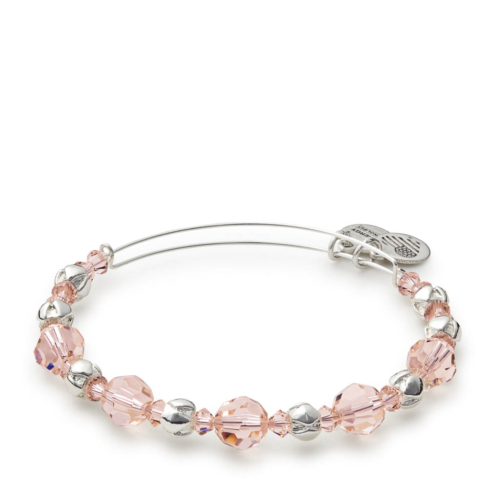 Alex and Ani Blush Swarovski Expandable Wire Bangle
