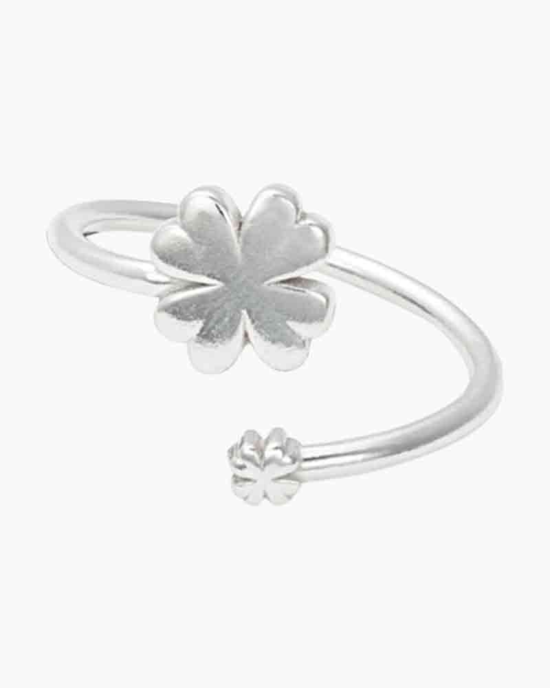 ALEX AND ANI Four Leaf Clover Ring Wrap