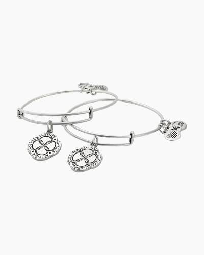Infinite Connection Set of 2  Charm Bangles