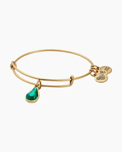May Birth Month Charm Bangle With Swarovski Crystal