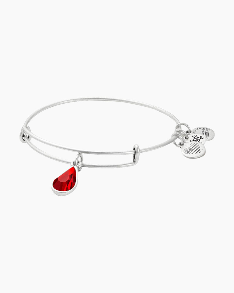 Alex and Ani July Birth Month Charm Bangle With Swarovski Crystal