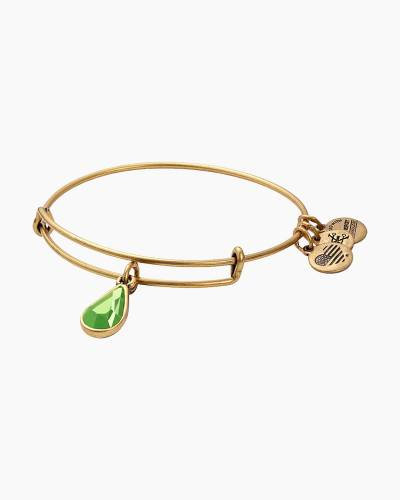 August Birth Month Charm Bangle With Swarovski Crystal