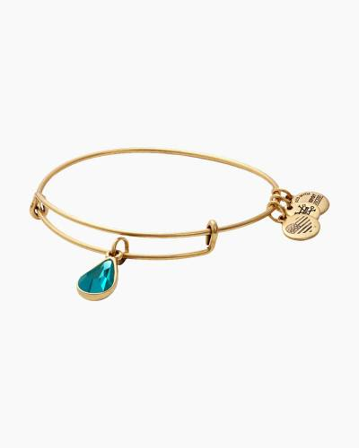 December Birth Month Charm Bangle With Swarovski Crystal